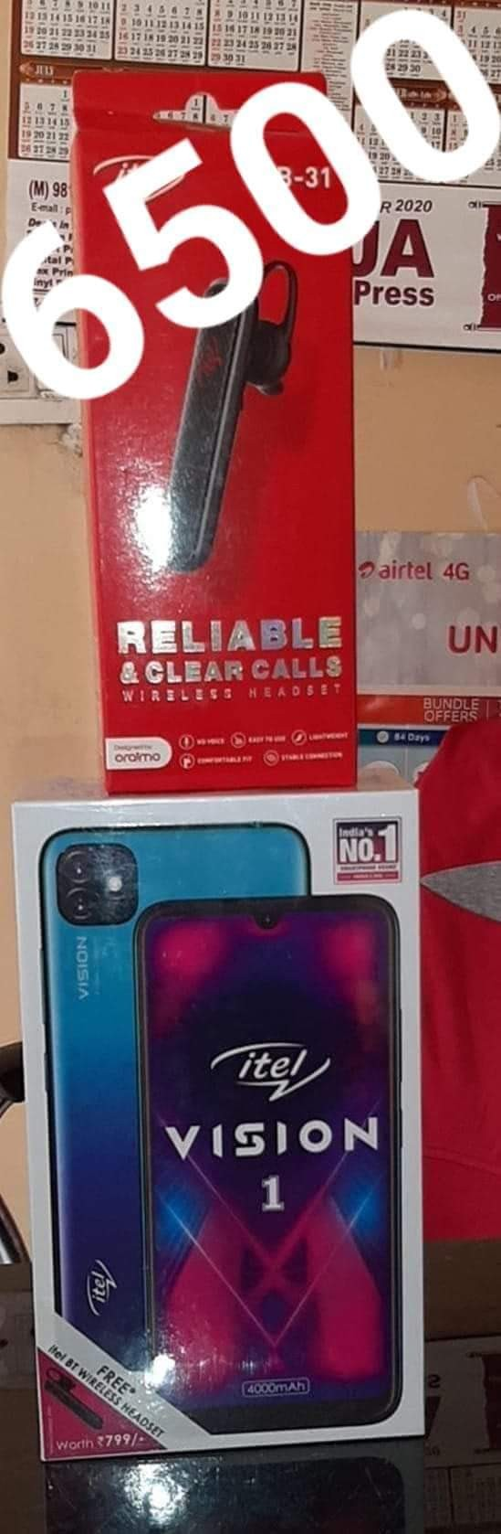 ITELMOBILES VISION 1 DUEL 4G 2GB RAM,32GB INTERNAL 4000MAH BATTERY BLUE COLOUR