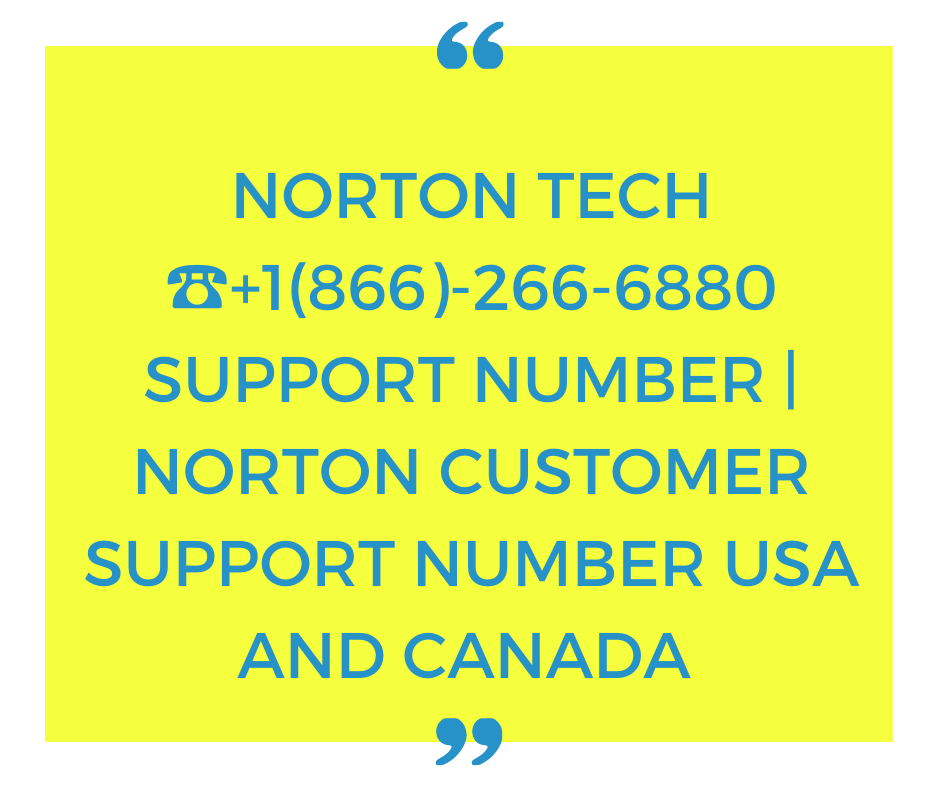 The Birth of Norton Antivirus Phone Number – +1(866)-266-6880