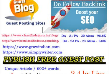 Publish Free Guest Post – Boost your SEO