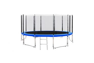 trampoline with enclosure